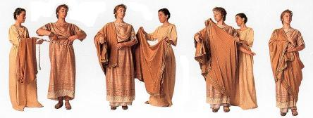 White Wrap Dress on Roman Women S Costume Consisted Of Three Simple Garments