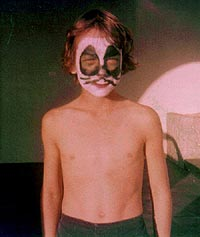 Paul Miles in Peter Criss makeup - 1980