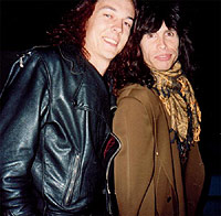 Paul Miles & Steven Tyler from Aerosmith -1990