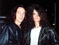 Paul Miles & Joe Perry from Aerosmith -1990