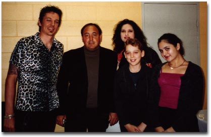 Doc McGhee with the Miles family