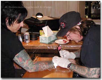Tattooing Nikki at home