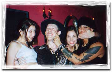 Shinbone Starr, Randy Castillo and 'friends' having fun in Japan '99