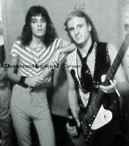 17-yr-old Tommy with his Dealer band-mate Glenn Bassett