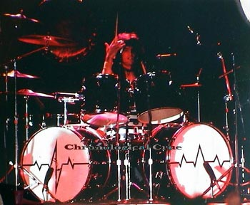 Tommy Lee live in concert with Motley Crue mid-1981