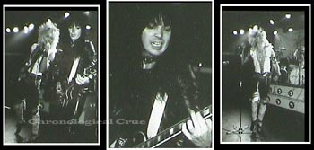 35mm proof sheet photos of Motley Crue taken live from on-stage by Will Boyett