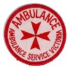 ( USED GC )( NOT current issue ) Ambulance Service Victoria round arm patch